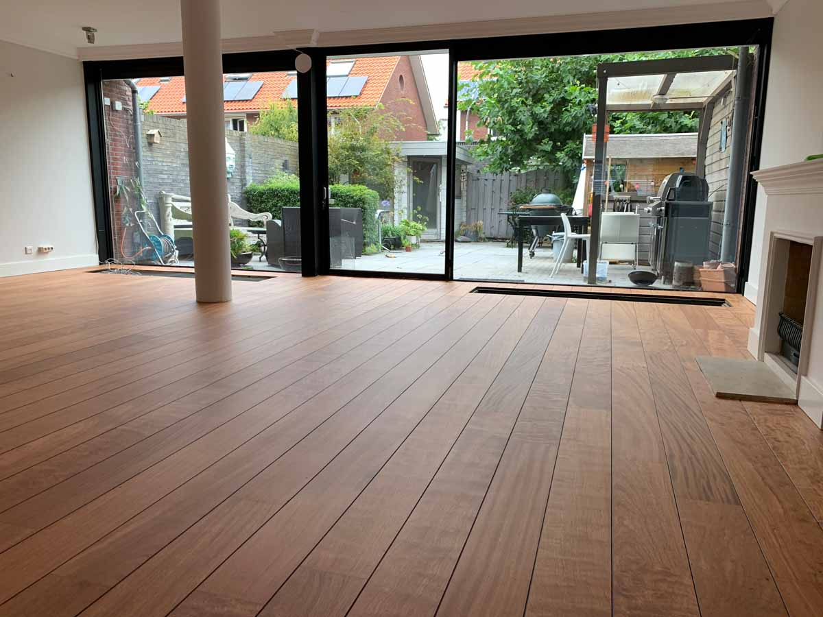 Parketvloer eco wood tropische hardhout ultra mat lak